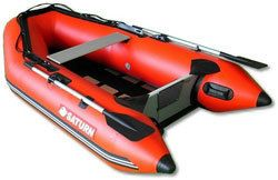 8ft 6in Slatted Aluminum Floor Saturn Inflatable boat SS260 Red