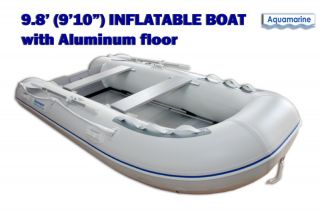 910 INFLATABLE FISHING BOAT DINGHY SCUBA RAFT TENDER w Aluminum floor
