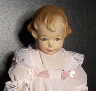 RARE AMBERG MIBS COMPOSITION CLOTH ANTIQUE DOLL BEST COMPO OLD NO
