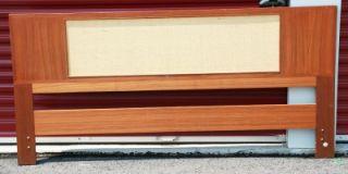 Bed Headboard Falster Teak King Size Denmark Vtg Mid Century 50s