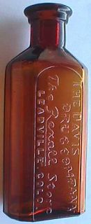 RARE Amber Davis Drug Antique Leadville Colorado Bottle