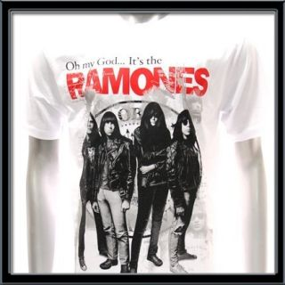 Sz XL Ramones T Shirt Vtg American Retro Rock Band Punk Music Punk Men