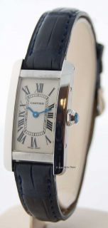 Cartier Ladies Small Tank Americaine 18K White Gold