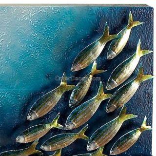 Marine Life Metal Wall Art Decor, Ocean Fish, Abstract