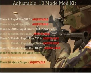 Xbox 360 Controller 10 Mode Mod Kit Great for Cod 5 and Black Ops 2