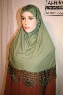 Crochet Amira 2pc Scarf Hijab Hejab Abaya Jilbab Eid