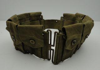 WWII Army Ammunition Belt Ammo Carbine Gun Vintage US Military Marine