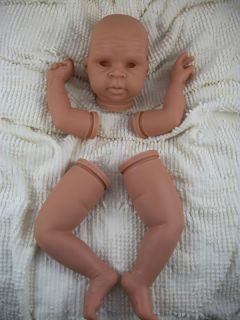 AA African American Biracial Vinyl Reborn Baby Doll Kit Micaiah Emily