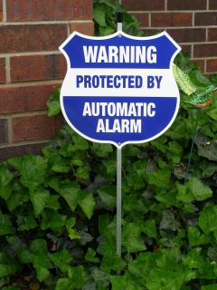 HOME SECURITY SYSTEM YARD SIGNS NEW METAL WEATHER PROOF SECURITY