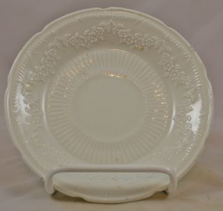 Anchor Hocking Fire King Milk White Vitrock Glass Alice Pattern Saucer