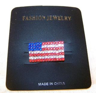 American Flag Pin with Jewels Lapel Pins United State USA Button New