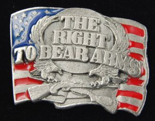 The Right to Bear Arms American Flag Lapel Pin