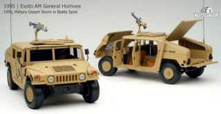 Exoto 1 18 1995 AM General Humvee Military Desert Storm Battle Sand