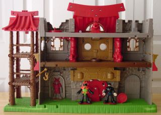 Fisher Price Imaginext Samurai Castle Play Set Toy Used