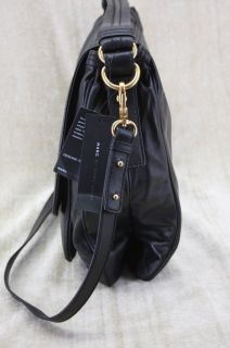 New Marc Jacobs Totally Turnlock Lydia Cross Body Bag Black Leather $