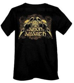 AMON AMARTH cd lgo RAVEN SKULLS Official SHIRT LAST MED New nbp