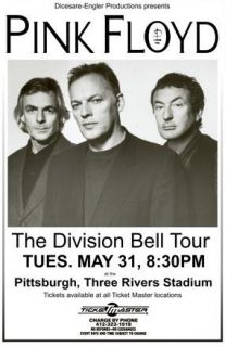 Pink Floyd David Gilmore The Division Bell 1994 Tour RARE Concert