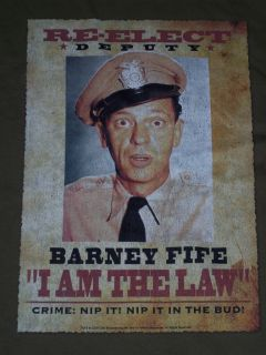 Barney Fife Andy Griffith Show T Shirt New XL
