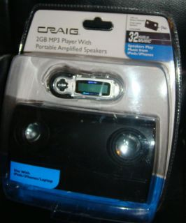 Craig 2GB  Player with Portable Amplified Speakers 731398350018