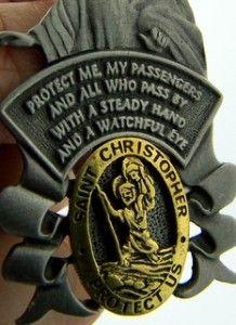 Guardian Angel Medal Car Visor Clip Saint Christopher Protection Safe