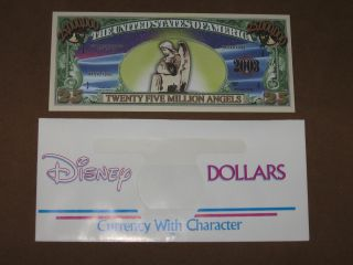 Nativity 25 Million Angels Novelty Note Disney Dollar Envelope