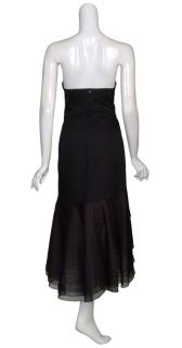 Angel Sanchez Layered Silk Organza Eve Dress Gown 6 New