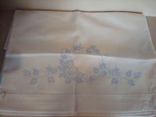 Stamped Embroider 3 PR Pillow Cases Bucilla Angel Dresser Scarf