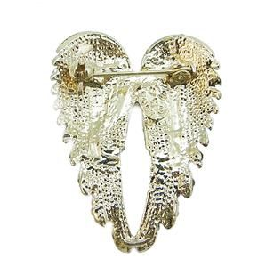 18K Gold GP Angel Wing Brooch Pin Green Swarovski Crystal 10 Items