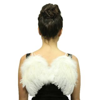 Wings Feather Fairy Angel Wings Small 11x12 White Costume Party Fancy