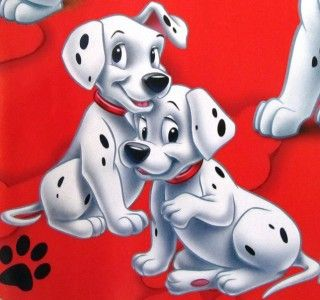 NEW* 101 DALMATIANS * gift wrap PARTY wrapping paper 16 sheets