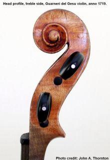 Violin by Joseph Guarneri Del Gesu 1718 Original Condition
