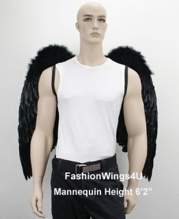 Costume Feather Wings Archangel Angel Demon Props Free Mask