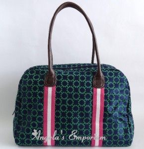 Tommy Hilfiger Davis Logo Jacquard Large Travel Tote Bag Navy Green