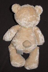 Carters Tan My First Bear Green Bow Plush Teddy Striped Ears Stuffed