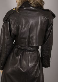 RARE NWOT Andrew Marc Lambskin Leather Dress Trench Coat $2,000