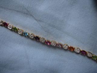 Joan Rivers Pastel Color Stone Line Bracelet New