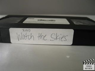 Xtro Watch the Skies VHS Sal Landi, Andrew Divoff, Jim Hanks