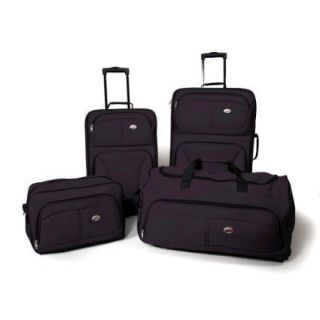 American Tourister Fieldbrook 4 Piece Luggage Set Black One size