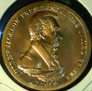 Andrew Jackson US Mint Inaugurated Commemorative Bronze Medal Token