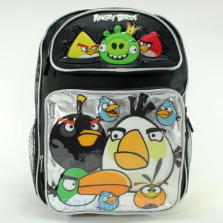 Rovio Angry Birds and King Pig 16 Large Backpack   Book Bag Boys