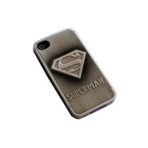 Silver Superman Man of Steel Aluminum Metal Case Cover for iPhone 4 4G