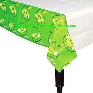 Angry Birds King Pig Green Paper Tablecover