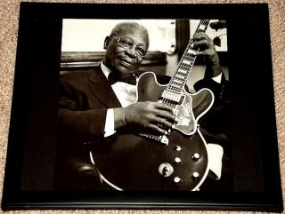 BB King Blues Gibson ES 335 Lucille Framed Portrait