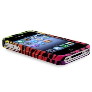 Colorful Zebra Animal Print Hard Case Cover Skin for iPhone 4 4S 4G