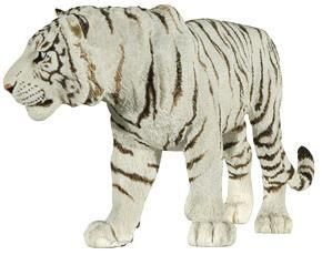 Papo White Tiger Toy Figurine Wild Animal Figure Pretend Play Jungle