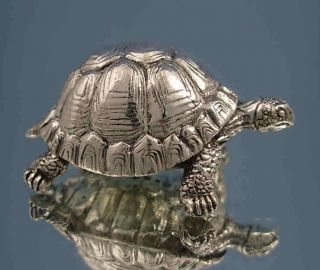 Sterling Silver Tortoise Figure Silver Animal Figures
