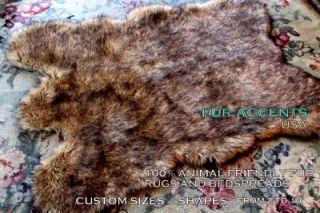 Rug Faux Fur Bear Sheepskin Shag Accent Throw New Animal Pelt Rugs