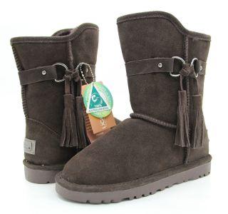 UGG Short Boots Side Tassel Premium Australian Sheepskin