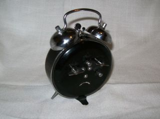 Works Great Vintage Westclox Double Bell Alarm Clock Glow in Dark Wind