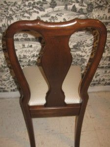 Ethan Allen Georgian Court Solid Cherry Queen Anne 6211 Chairs